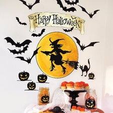 Happy Halloween Holiday Wall Decal (Set of 2)