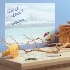 At The Beach Dry Erase Vinyl Chalkboard Wall Decal