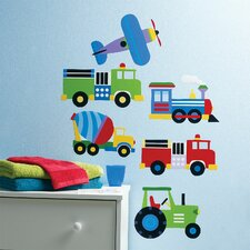 Kids Trains, Planes and Trucks Wall Decal