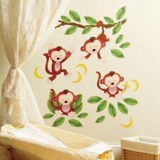 Baby Monkeys Wall Decal (Set of 2)