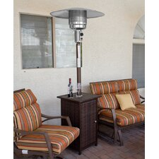 Tall Square Propane Patio Heater with Wheels