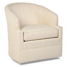 Transitional Swivel Barrel Chair