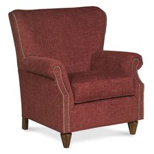 Curved Back Traditional Wingback Chair