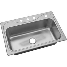"""Southhaven® 33"""" x 22"""" Single Basin Drop-In Kitchen Sink"""