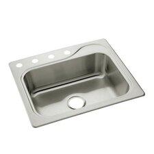 """Southhaven 25"""" x 22"""" Single Bowl 4-Hole Kitchen Sink"""