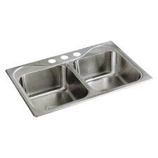 "Southhaven 33"" x 22"" Double Bowl Kitchen Sink"
