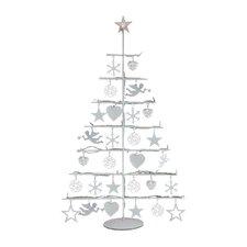 Weihnachtsleuchte Helga in Weiß