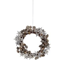 Gren 30cm Lighted Wooden Wreath