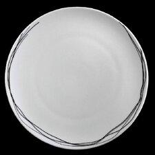 """31,6 cm Platzteller """"Free"""" aus Porzellan in Weiß / Schwarz (6er Pack)"""