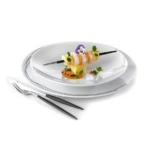 """28 cm Teller """"Plat de Luxe"""" aus Porzellan in Weiß (6er Pack)"""