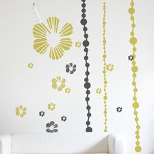 XXL Tumbling Blooms Wall Decal