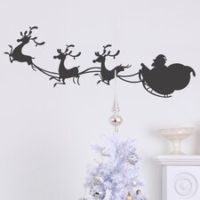 Christmas Sleigh Wall Decal