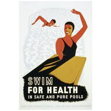 Swim For Health Vintage Advertisement