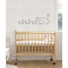 Piccolo Swan Origami Wall Decal