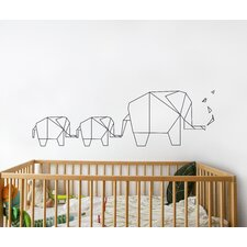 Piccolo Elephant Origami Wall Decal