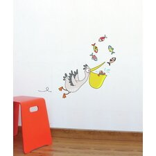 Ludo Pelican Wall Decal