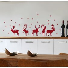 Mia & Co Reindeers Wall Decal