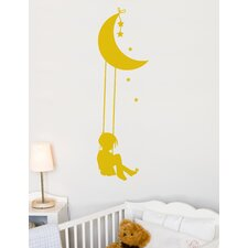 Piccolo Moon Swing Wall Decal