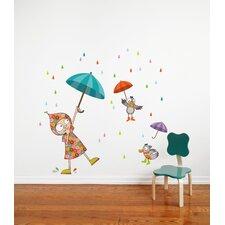 Ludo Dancing in the Rain Wall Decal