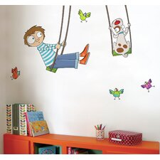 Ludo Tom on a Swing Wall Decal