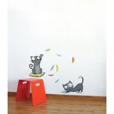 Ludo Kittens Wall Decal