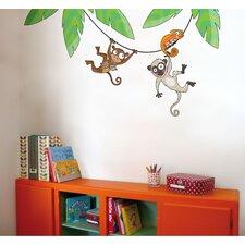 Ludo Monkeys on a Liana Wall Decal