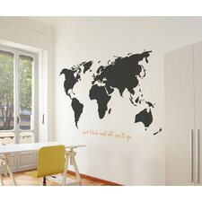 XXL World Wall Decal