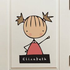 Piccolo My Name Is Girl Window Sticker