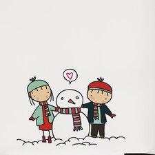 Piccolo Snowman Love Wall Decal