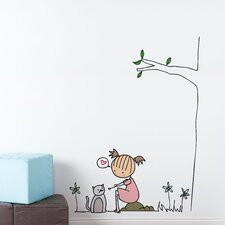 Piccolo Purring Cat Wall Decal