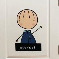 Piccolo My Name Is Boy Window Sticker