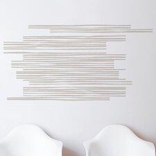 Spot Wooden Slats Wall Decal