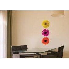 Mini Foto Gerbera Trio Wall Decal