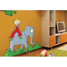 Ludo on the Elephant Wall Decal
