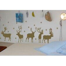 Spot Reindeers Wall Decal