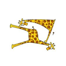 Ludo Giraffe Baby Boys Wall Decal