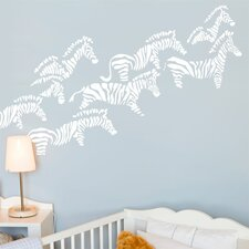 Piccolo Herd of Zebras Wall Decal