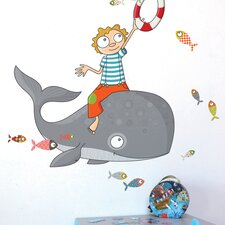 Ludo Flying Fish Wall Decal