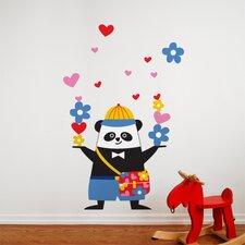 Piccolo Schooltime Panda Wall Decal