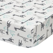 Uptown Giraffe Fitted Crib Sheet