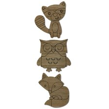 3 Piece Woodland Animals Wall Decor Set