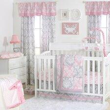Damask Delight Patchwork 4 Piece Crib Bedding Set