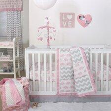 Ellie Pretty Patch 4 Piece Crib Bedding Set