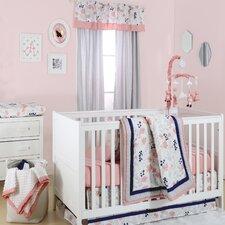 Floral Dot 4 Piece Crib Bedding Set