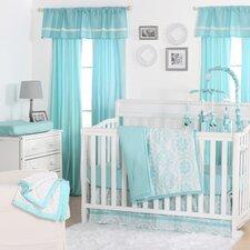 Medallion Dot 4 Piece Crib Bedding Set
