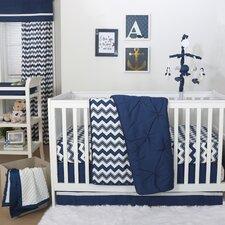 Wavy 4 Piece Crib Bedding Set