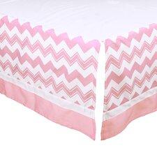 Chevron Tailored Crib Dust Ruffle