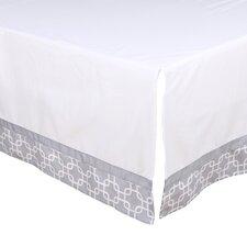 Geo Print Tailored Crib Dust Ruffle