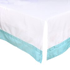Dot Tailored Crib Dust Ruffle