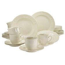 Stoneware Jasmin Combo Service 30 Piece Dinnerware Set